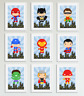 Cute Superhero Pictures / Prints for Boys Bedroom, Playroom, Home Decor, Hero