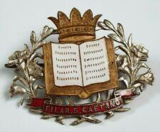 More details for italian italy brass band bandsman cap hat badge - filar .s. gaetano - poss choir