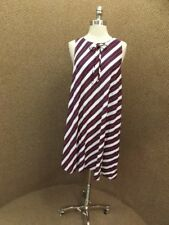 Red White Blue Vtg 1960s NEW NOS Cool Atomic Contrast Stripe Summer Tent Dress M
