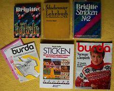 7 x Bücher Sticken Stricken Häkeln Handarbeiten Basteln Brigitte Paket Sammlung