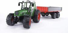 Bru2104 - Tractor Fendt 209 S With Trailer 2 Axles Toy BRUDER