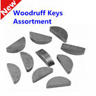 80pcs Woodruff Key Assortment Set Metric Half Moon Shaft Drive Fasteners 8 Sizes