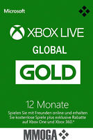 Xbox Live Gold Mitgliedschaft Card 12 Monate Xbox 360/One [GLOBAL Key]*