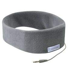 SleepPhones with On-cord Microphone, Volume Control, Play, Pause Soft Gray One S
