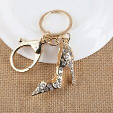 Rhinestone Key Chain Ring Charm Fashion Sexy Crystal high-heeled shoes KeyChain