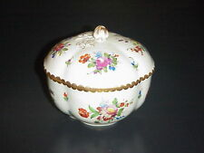 Antique Dresden Covered Sugar Bowl Potschappel Carl Thieme 1901 Flowers 1st Mark