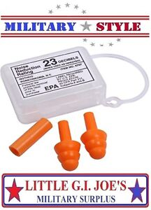 NEW Military Style Ear Plugs W/ Storage Case Tactical Earplugs 23db Rothco 4707