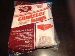 Sears Kenmore 20-50555 Canister Vacuum Cleaner 15 Bags + Homecare 5055-50558 NIP