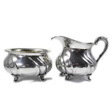 WILKENS Silber Sahneservice Chippendale  Milch & Zucker Set 830 Silber
