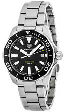 New Tag Heuer Aquaracer Black Dial Brushed Steel Quartz Watch WAY111A.BA0928