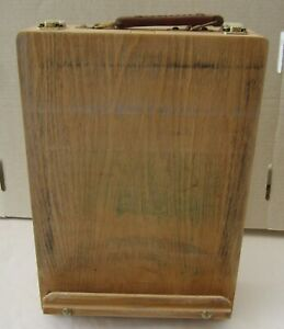 PORTABLE WOODEN ARTIST TABLETOP EASEL + STORAGE BOX.