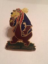 RARE DISNEY JAYCEES BRER BEAR with CLUB OVER SHOULDER SONG of the SOUTH PIN