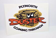 Plymouth Duster Coming Through Vintage Style Decal / Sticker, mopar, racing