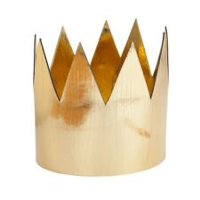 Gold Crown Metallic King Queen Royal Fancy Dress Costume Accessory Adults New