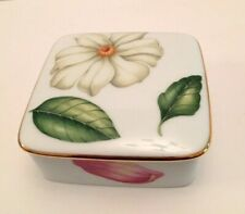 Tiffany & Co. Limoges Floweres Collection Porcelain Box w/Tiffany box