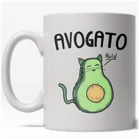 Avogato Mug Funny Avocado Cat Kitty Coffee Cup - 11oz