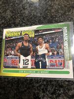 Zion Williamson & Ja Morant Jersey Swap. NEW 20-21 NBA Hoops No.10. PSA10