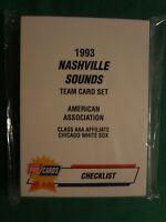 1993 FLEER PRO CARDS NASHVILLE SOUNDS TEAM CARD SET