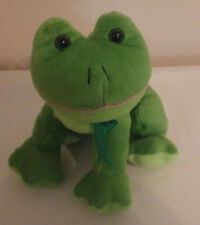 "Kellytoy Green Frog Sitting 9"" Plush Stuffed Animal Toy"