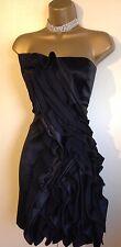Karen Millen Satin Party Cocktail Dress UK 10 ~ ( 12 ) RRP £250 VGC 🖤Buy Now🖤