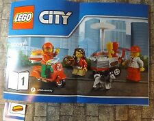 LEGO CITY  Hot Dog Stand & MINIFIGS with Scooter -NEW  -  REF 01