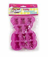 5x Rosa Teddy Chocolate Molde Silicona Pasteles hacer topes cupcake fondant