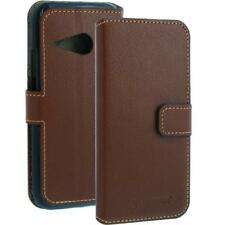 Leather Wallet Case Cover for HTC One Mini 2 Brown Mobile Phone Smartphone-Leather Bag New