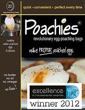 4 X 20 bolsas de huevos caza furtiva Poachies perfecta huevos escalfados.. pan cada vez