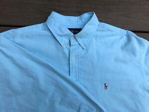 Men's Ralph Lauren Yarmouth Size 18 34/35 Dress Shirt Nice Light Blue- Pristine!