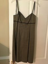 DKNY Linen/Viscose Taupe Dress Size 12