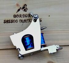 """SHADER"" (NICKEL PLATED) BORDER TATTOO MACHINE,CUSTOM IRON JENSEN FRAME 8 LAYER"