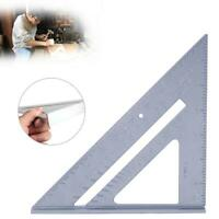 """7"""" Ruler Metric Aluminum Alloy Speed Square Roofing Triangle Measuring Rafter UK"""