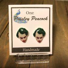 The JOKER Stud Earrings BATMAN Heath Ledger Plastic Post
