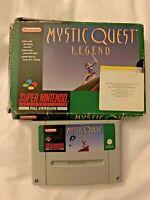 Mystic Quest Legend Super Nintendo Entertainment System SNES Game Boxed