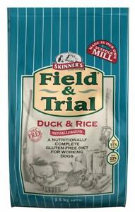 Skinner's Field & Trial Complete Dry Adult Working Dog Food Duck and Rice 2.5 kg