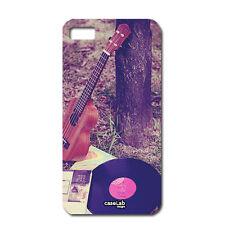CUSTODIA COVER CASE MUSIC VINTAGE STRUMENTI SOUND DISCO PER iPHONE 5 5S S