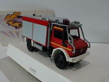 """Busch 51053 - Mercedes Unimog U5023 """" Feuerwehr """" in rot-silber 1:87 NEU"""