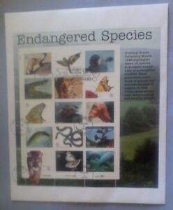 First day issue, 1996 Endangered Species, Se-tenant, Scott # 3105