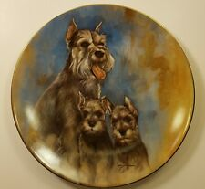 Leo Jansen Schnauzers Collector Plate Numbered with CoA (#977 out of 7500 made)