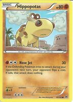 POKEMON CARD XY BREAK THROUGH - HIPPOPOTAS 83/162