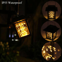 Waterproof Outdoor LED Hanging Solar Lanterns Light Yard Patio Garden Lamp Decor