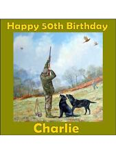 Tir chasse personnalisé gamekeeping Comestibles Anniversaire Cake Topper Square