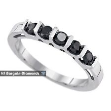 black diamond .49 carat wedding anniversary 925 ring enhancer birthday love