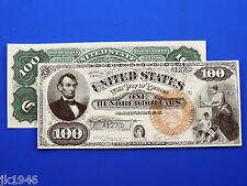 $2 $5 CIVIL WAR CONFEDERATE CURRENCY SET B  REPO $500,$100 AND $1  37245