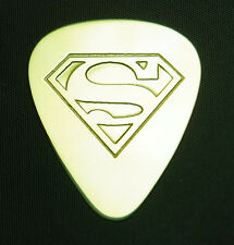 SUPERMAN  - Solid Brass Guitar Pick, Acoustic, Electric, Mandolin, Bass