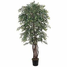 Decorative Natural Looking Artificial 6' Similax Silk Tree Faux Fake Plants