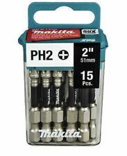 """Makita E-01046 impacto XPS #2 Phillips Bit de alimentación de 2"""" (51MM), 15/pc PH2"""