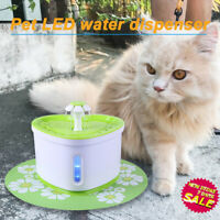 2L USB LED Auto Electric Pet Water Fountain Cat/Dog Drinking Dispenser /filter J