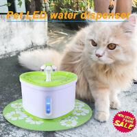 2L USB LED Auto Elektrisches Haustier Wasserbrunnen Katze/Hund Trink Spender /