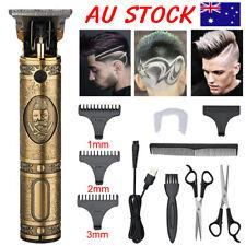 11PCS Men's USB Electric Hair Clippers Trimmer Beard Shaver Cordless Groomer Kit